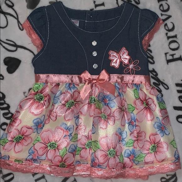 Swiggles Other - A wiggles 24m denim flower dress